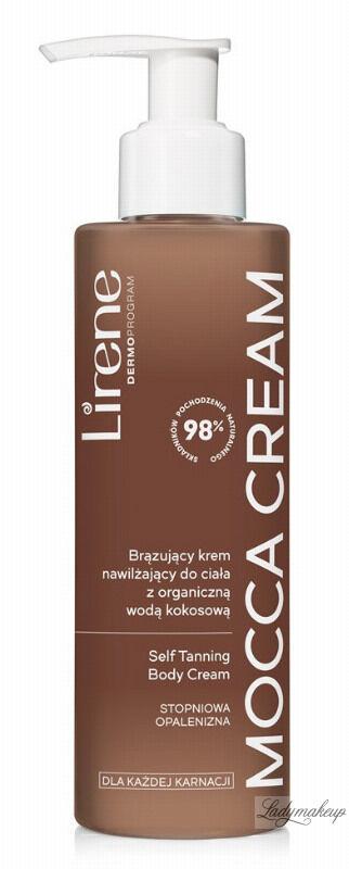 Lirene - MOCCA CREAM - Self Taning Body Cream - Brązujący krem nawilżający z organiczną wodą kokosową - 190 ml