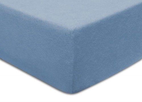 Prześcieradło Frotte Z Gumką 90x200 Niebieskie Darymex