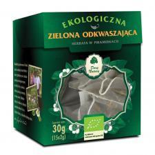 Herbata ZIELONA ODKWASZAJĄCA PIRAMIDKI BIO (15 x 2 g) Dary Natury