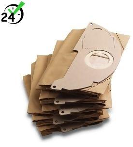 Papierowe worki (5szt) do WD 2, MV 2, Papierowe torebki filtracyjne, Karcher