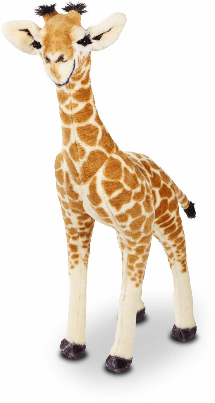 Melissa&Doug 40431 stojąca pluszowa żyrafa miękka zabawka zwierzę w każdym wieku prezent dla chłopca lub dziewczyny