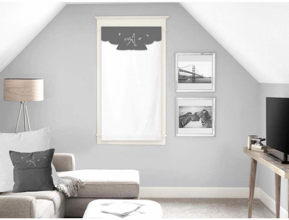 Soleil d''Ocre Ambroise zazdrostka, woal, bawełna, biała, 45 x 90 cm