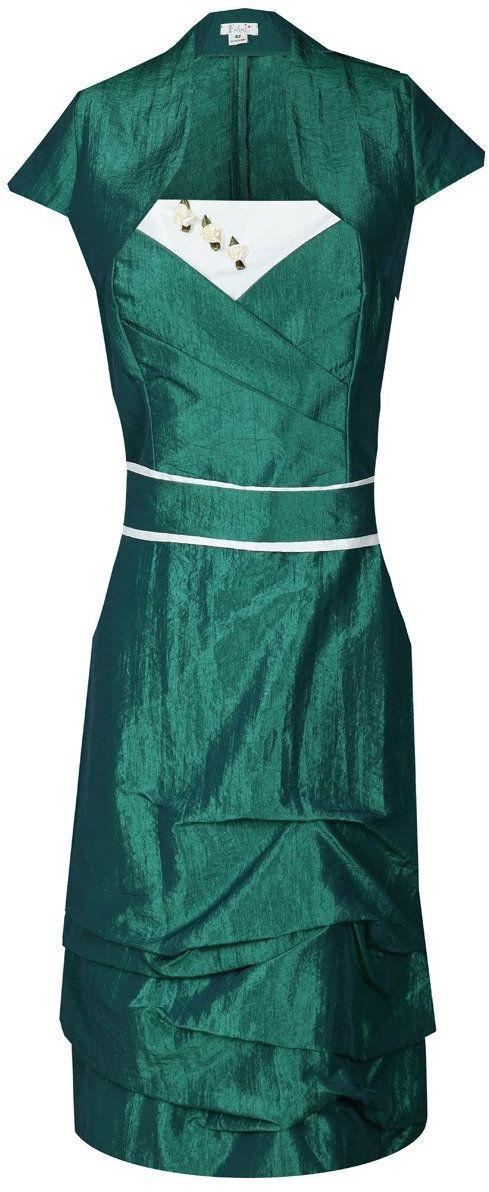 Sukienka FSU154 ZIELONY MORSKI