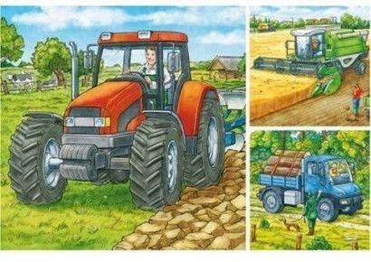 Ravensburger - Puzzle Maszyny na farmie 3 x 49 elem. 093885