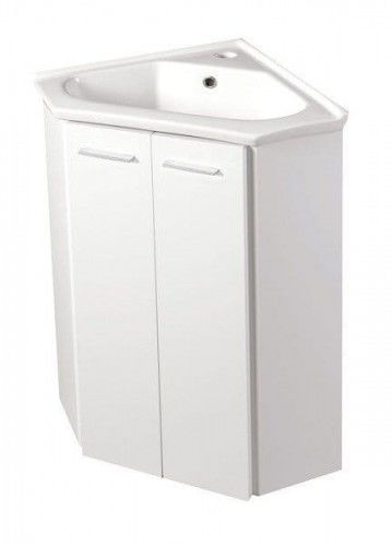 Szafka umywalkowa narożna 39x74x39cm, biała ZOJA