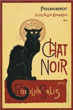 Chat noir - steinlein - secesja - plakat
