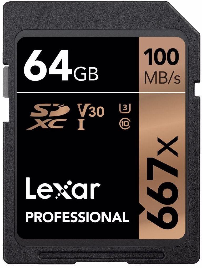 Karta pamięci Lexar Pro 667X SDXC 100/90 Mb/s 64 GB