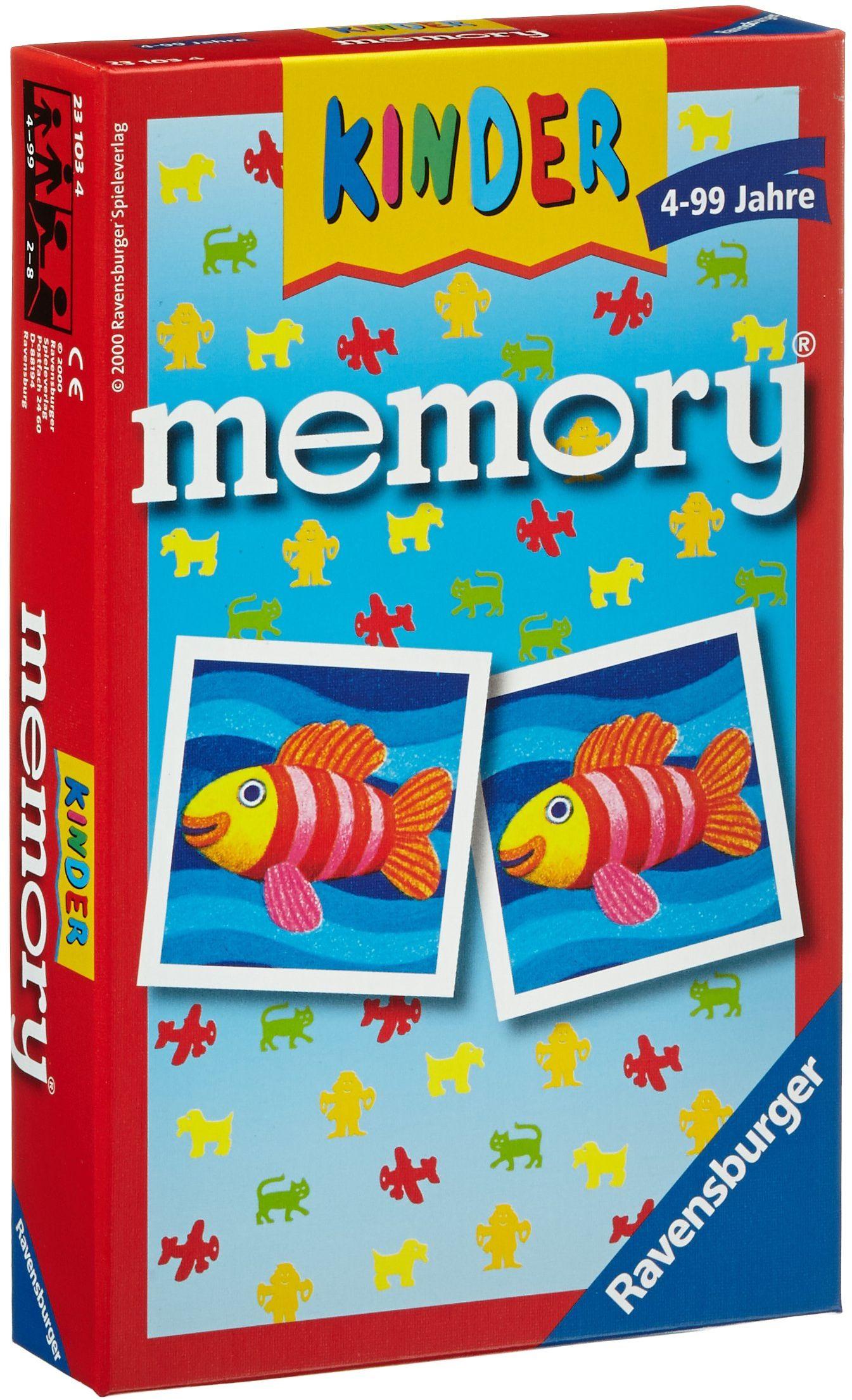 Ravensburger 23103  memory dziecięce, klasyk gier dla całej rodziny, gra dla 2  8 graczy w wieku od 4 lat