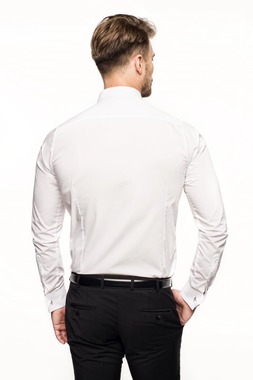 koszula saverne2 9001 na spinki slim fit biały