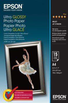 Papier EPSON Ultra Glossy Photo Paper 300g 15 arkuszy (A4) (C13S041927)