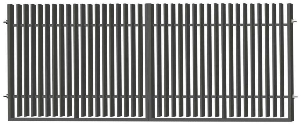Brama dwuskrzydłowa NEGROS 400 x 150 cm antracytowa POLBRAM