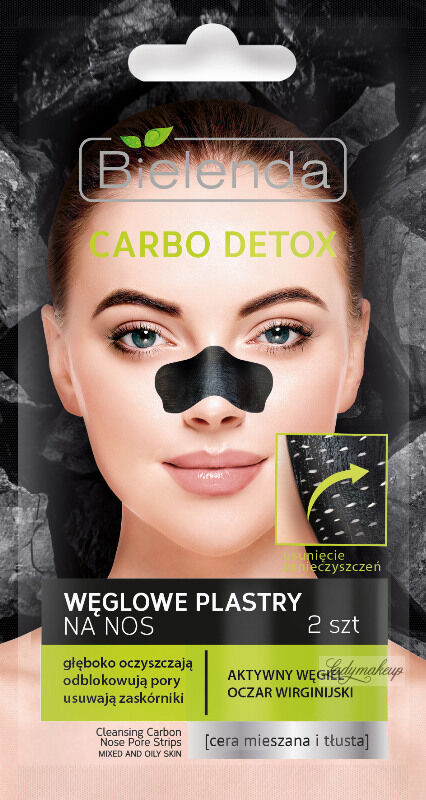 Bielenda - Carbo Detox - Cleasning Carbon Nose Pore Strips - Węglowe plastry na nos - 2 szt
