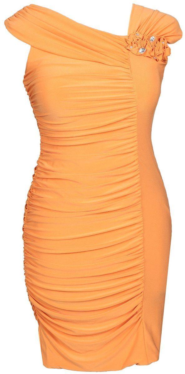 Sukienki Sukienka Suknie FSU198 POMARAŃCZOWY