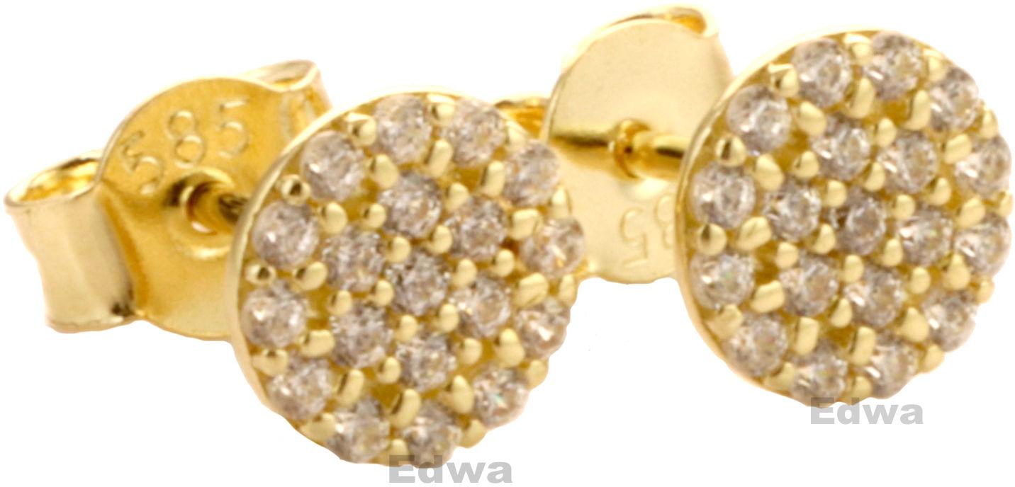 Kolczyki złote z cyrkoniami pr.585