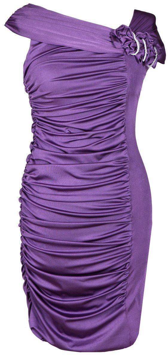Sukienki Sukienka Suknie FSU198 PURPUROWY