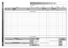 Druk Raport Kasowy RK A5