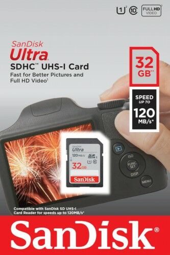 SANDISK ULTRA SDHC 32GB 120MB/s UHS-I Class 10