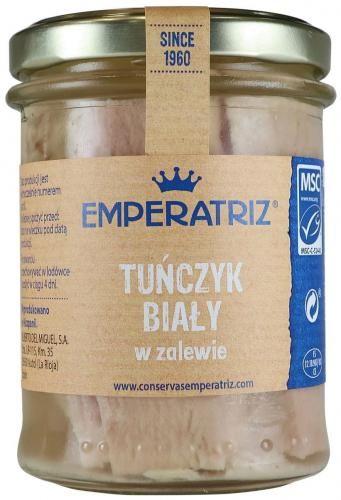 Tuńczyk biały w sosie własnym 200 g (140 g) (słoik) Emperatriz