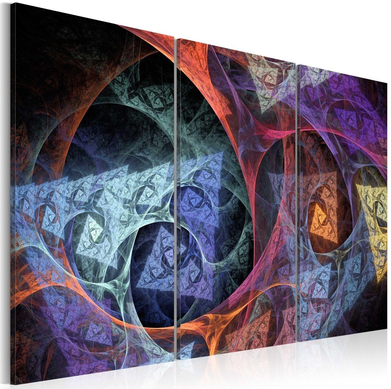 Obraz - abstrakcja w tajemniczych barwach