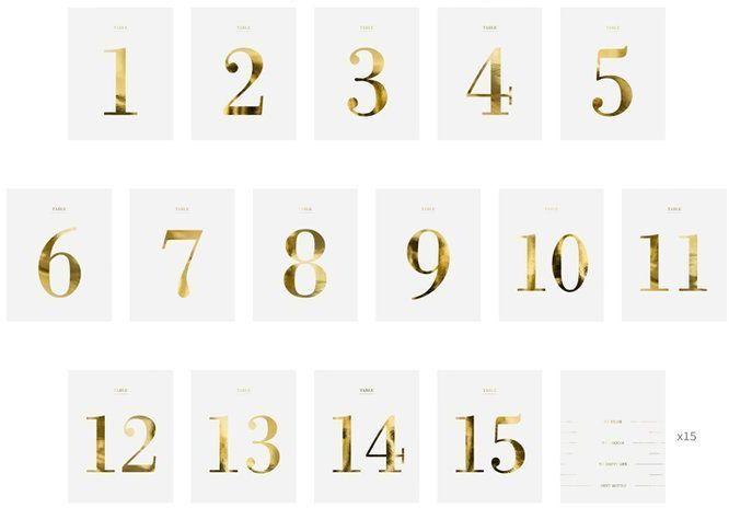 Numery na stół - zestaw naklejek na butelki 30 sztuk KPZ6-008-019M