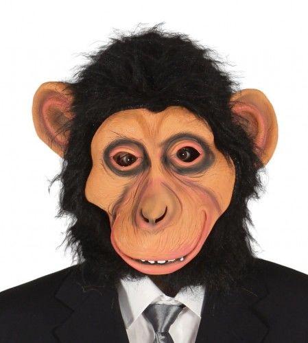 Maska Małpy z włosami, lateksowa