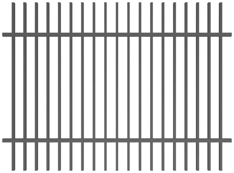 Przęsło ogrodzeniowe NEGROS 200 x 150 cm POLBRAM