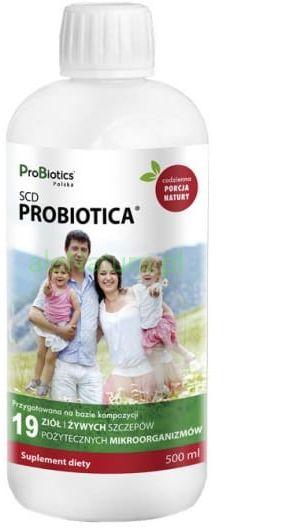 PROBIOTICS pożyteczne mikroorganizmy SCD ProBiotica 165ml