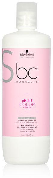 Schwarzkopf BC Color Freeze Silver Shampoo Szampon do włosów siwych i rozjaśnianych 1000 ml