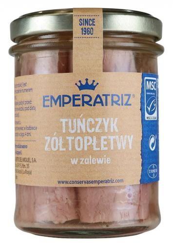 Tuńczyk żółtopłetwy w sosie własnym 200 g (140 g) (słoik) Emperatriz