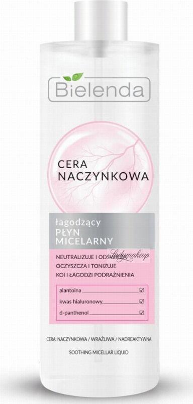Bielenda - Couperose Skin - Soothing Micellar Liquid - Cera Naczynkowa - Łagodzący płyn micelarny - 500 ml