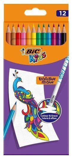 Kredki ołówkowe Kids Evolution Illusion 12 kol BIC
