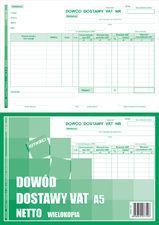 Druk Dowód Dostawy VAT DDV A5