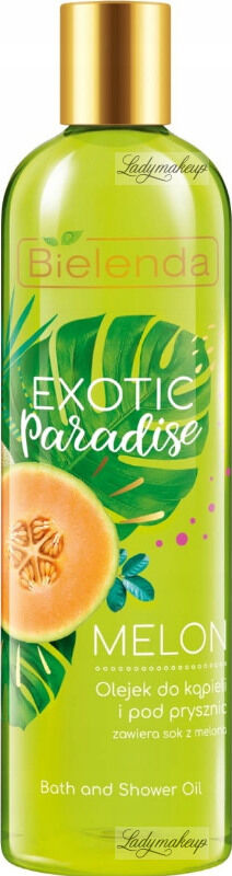 Bielelda - Exotic Paradise - Bath and Shower Oil - Melon - Olejek do kąpieli i pod prysznic z sokiem z melona - 400 ml