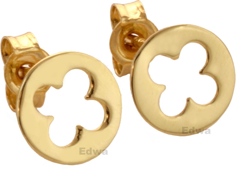 Kolczyki złote okrągłe pr.585