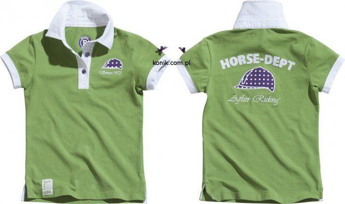 Koszulka polo HORSE DEPT - EKKIA - zielony