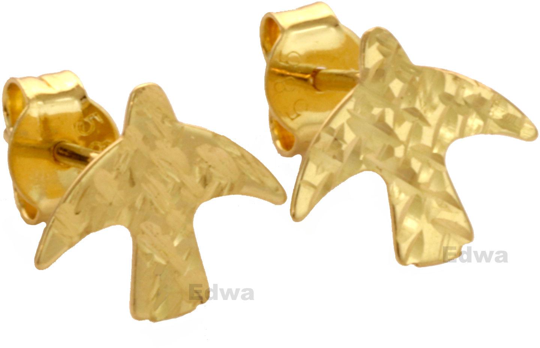 Kolczyki złote Jaskółki pr.585