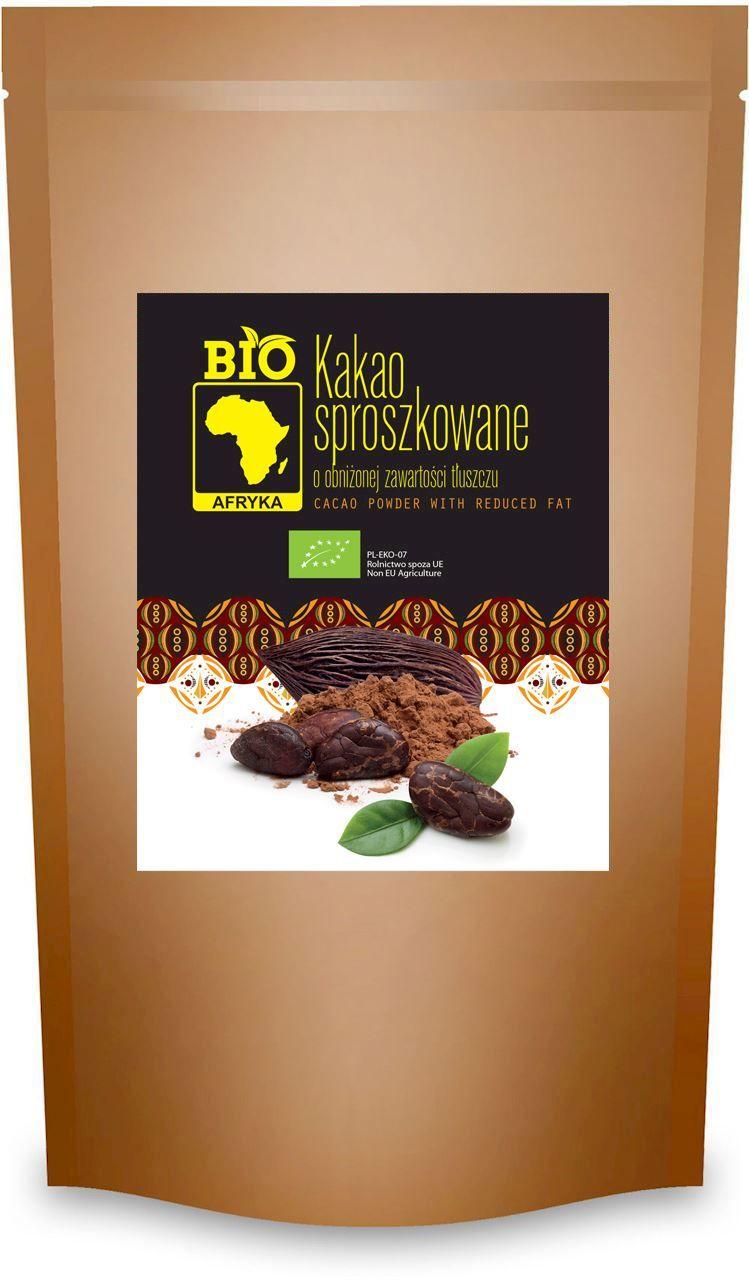 Kakao Sproszkowane o Obniżonej Zawartości Tłuszczu BIO 200g - Bio Afryka