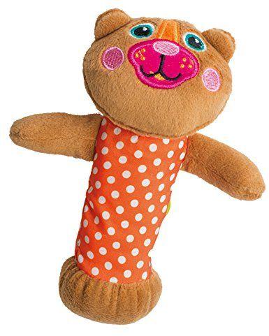 OOPS 13006.11 do napinania miękka kolekcja łatwa piszcząca zabawka do aktywności niedźwiedź, wielokolorowa