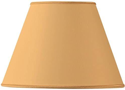Klosz lampy z materiału, stożkowy, 35 x 18 x 24 cm, żółty