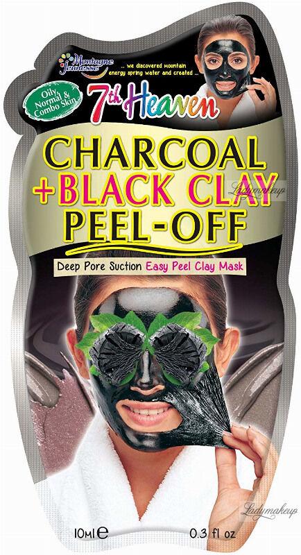 7th Heaven (Montagne Jeunesse) - Charcoal + Black Clay Peel Off Mask - Detoksykująca maseczka do twarzy z aktywnym węglem - Peel Off