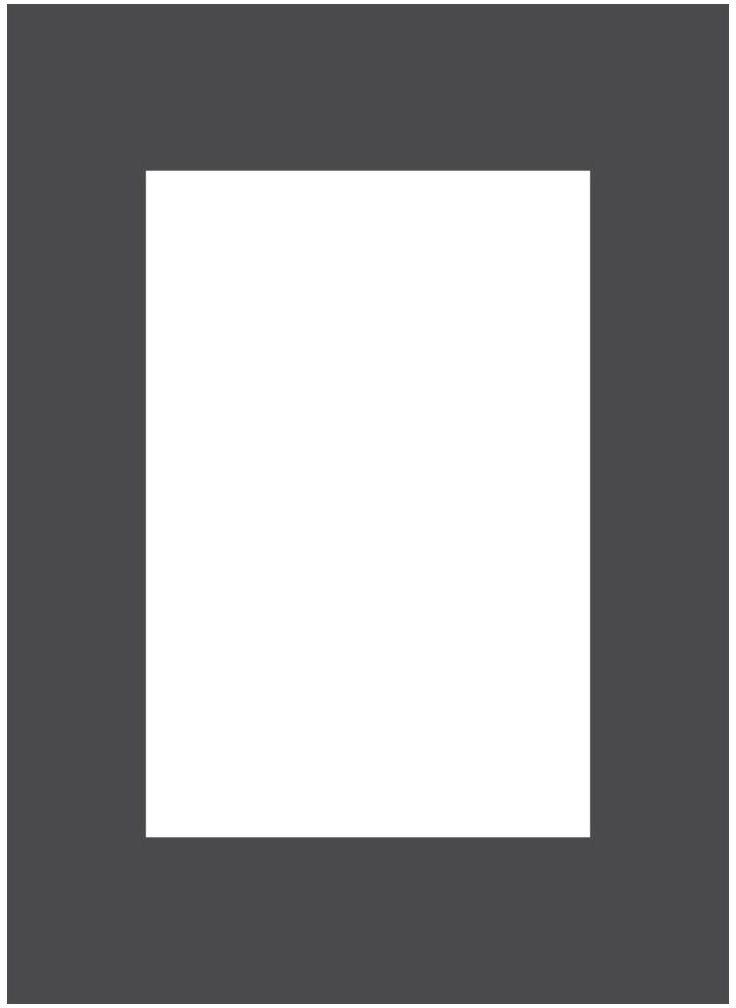 Passe-partout 172 czarne 13 x 18 cm