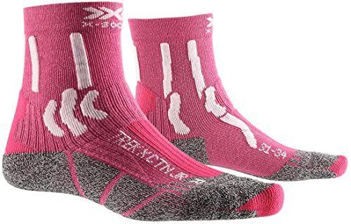 X-Socks Skarpety dziecięce Trek X Cotton Junior, Flamingo Pink/Arctic White, 24-26, XS-TS15S19J-P041-24/26