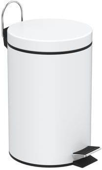Kosz na śmieci okrągły 3 litry, kolor biały