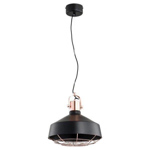 Nowoczesna lampa ARNOO czarna/miedź śr. 33cm
