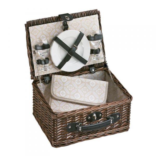 Cilio BELLAGIO - Kosz Piknikowy z Wyposażeniem dla 2 Osób