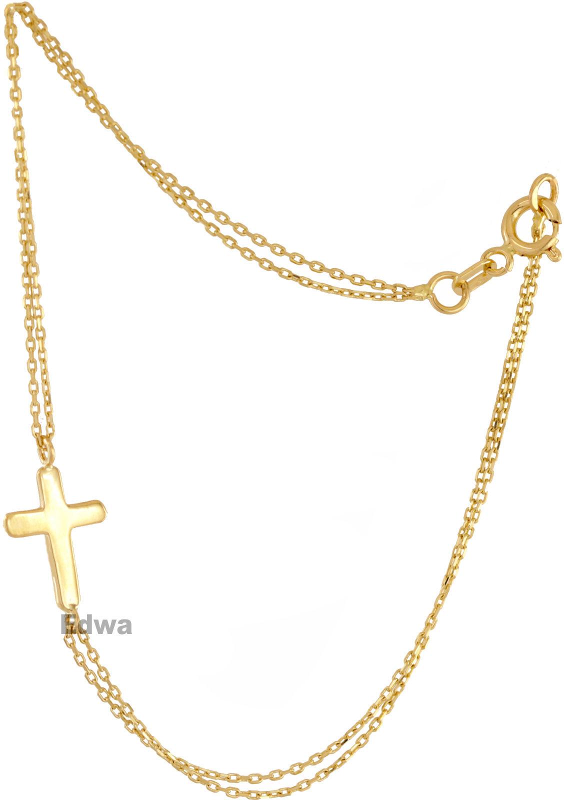 Bransoletka złota celebrytka z krzyżykiem pr.585