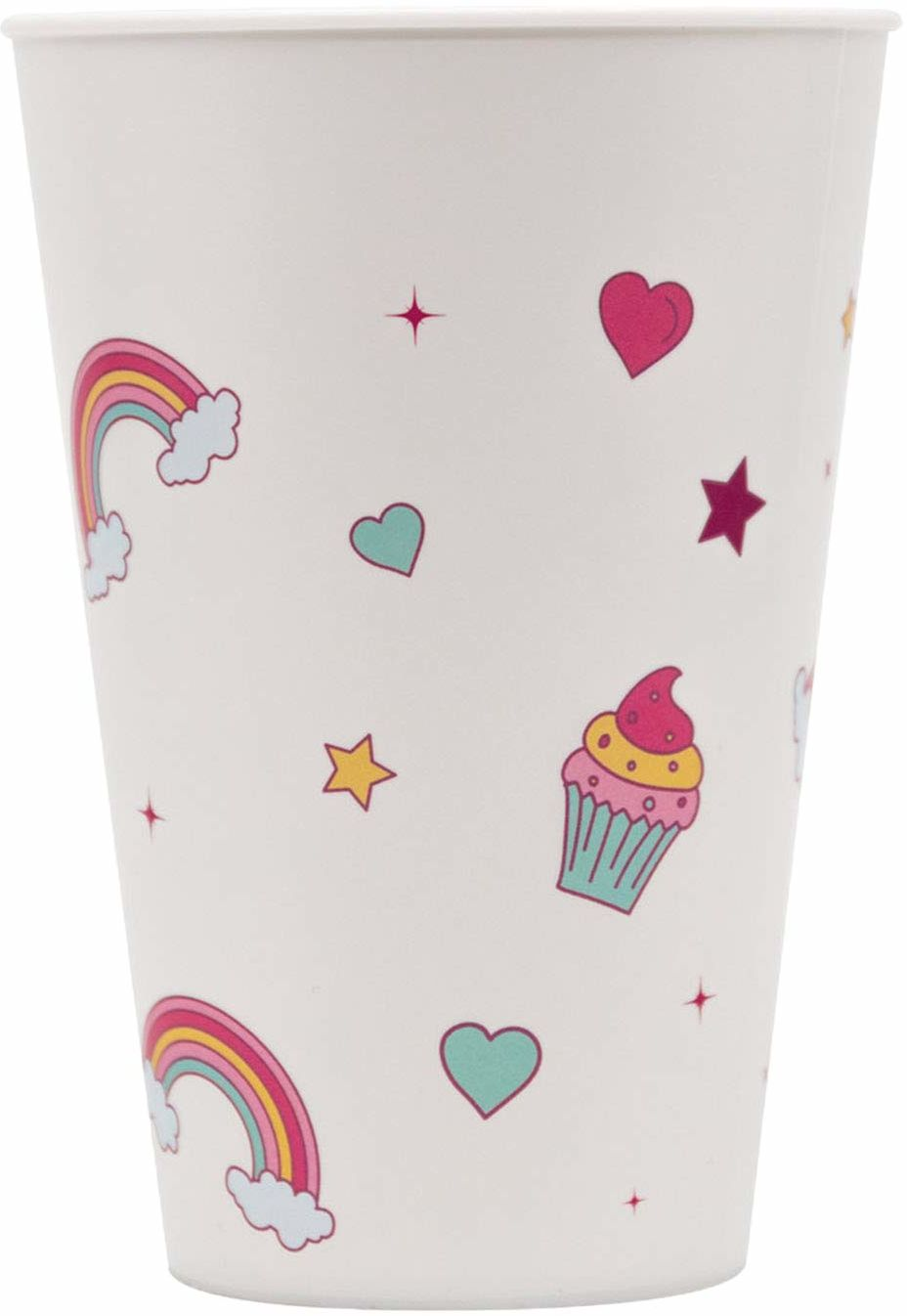 Procos 10201157 91385 - kubek, Magic Party Unicorn, 400 ml, wielokrotnego użytku, jednorożec, kubek do picia, urodziny, impreza tematyczna