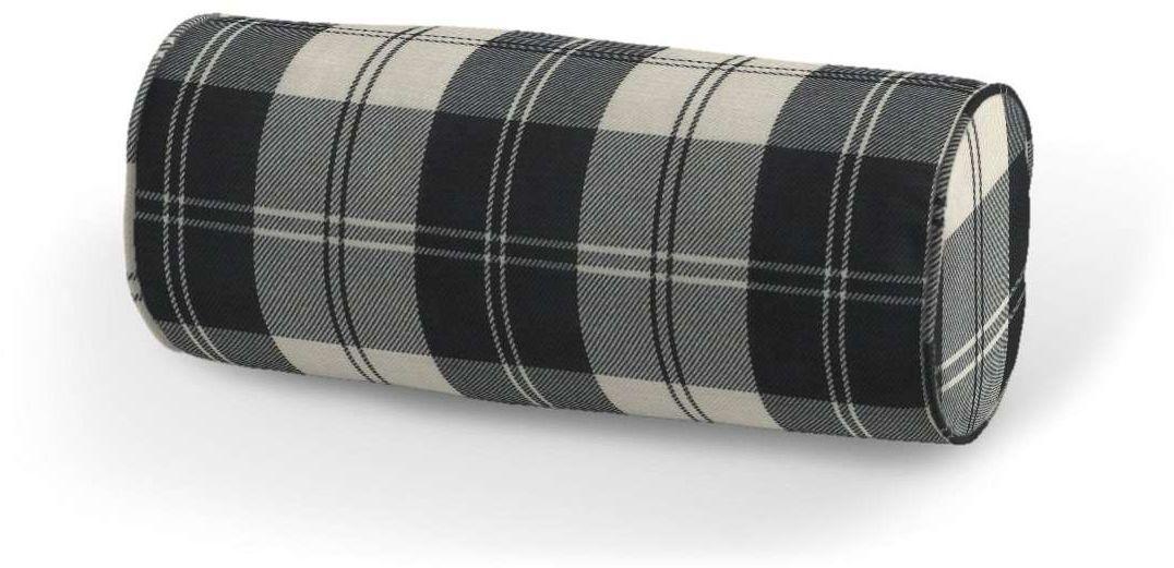 Poduszka wałek prosty, krata czarno-biała, Ø16  40 cm, Edinburgh