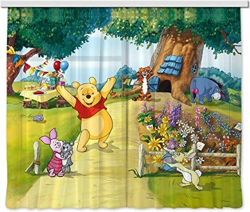Firanka/zasłona FCS XL 4309 pokój dziecięcy Disney Winnie The Pooh