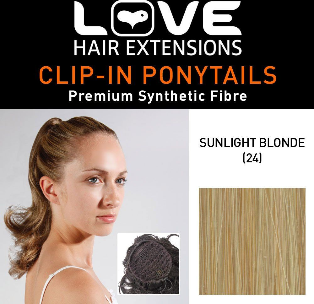 Love Hair Extensions Percilla sznurek syntetyczne włosy koński ogon kolor 60 słońce blond 40 cm